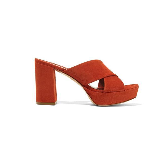 Mansur Gavriel Suede Platform Sandals