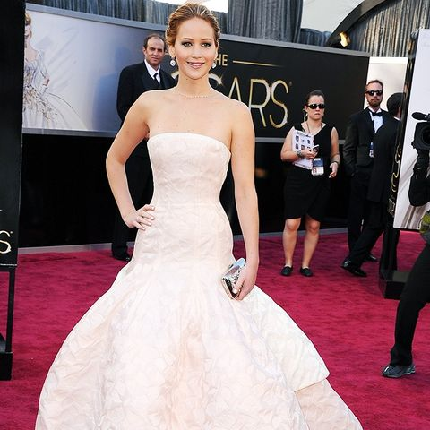 Best Oscars Dresses: Jennifer Lawrence in Dior Couture, 2013