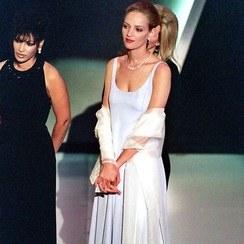 Best Oscars Dresses: Uma Thurman in Prada, 1995
