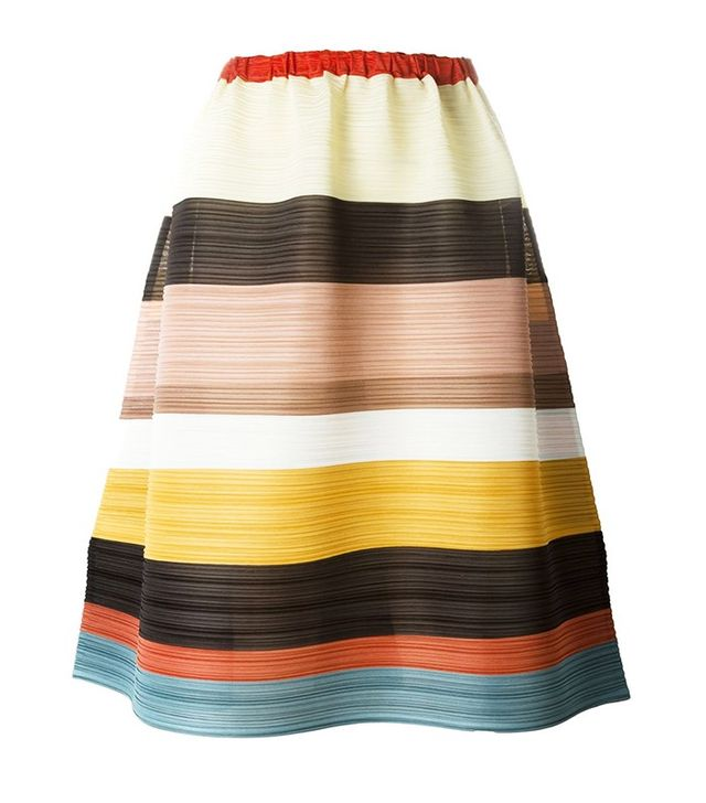 Pleats Please by Issey Miyake Striped Pleated Skirt