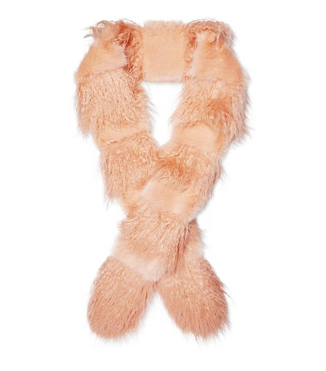 Shrimps Marnie Faux Fur and Shearling Scarf