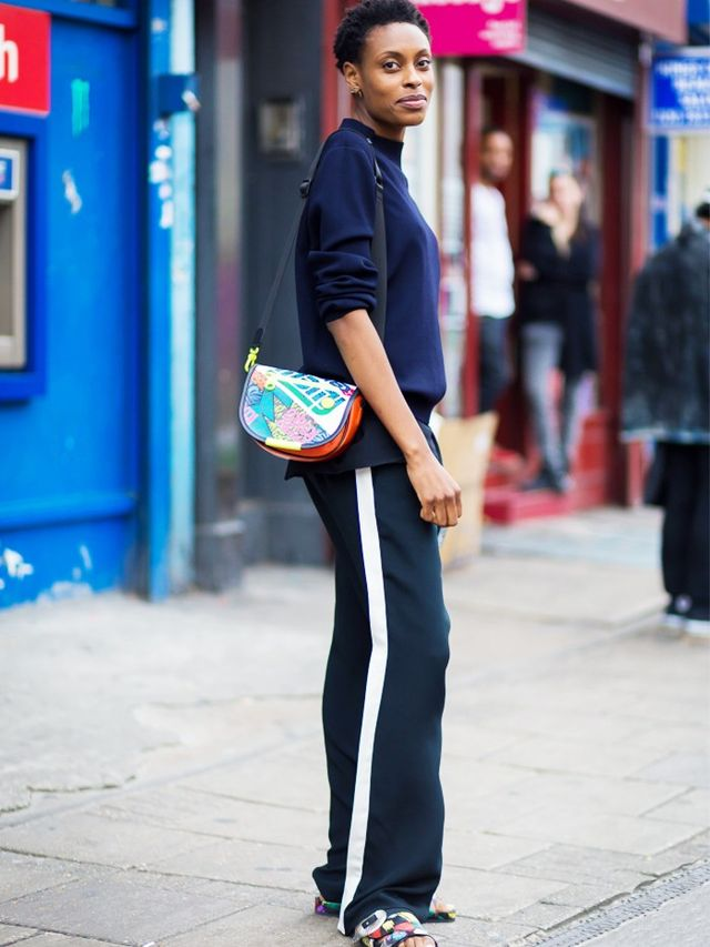 Trend Report The New Sport Luxe Trousers Whowhatwear Uk