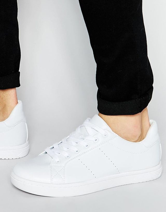 ASOS Lace Up Sneakers in White