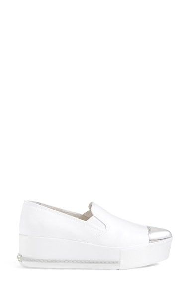 Miu Miu Cap-Toe Platform Sneakers