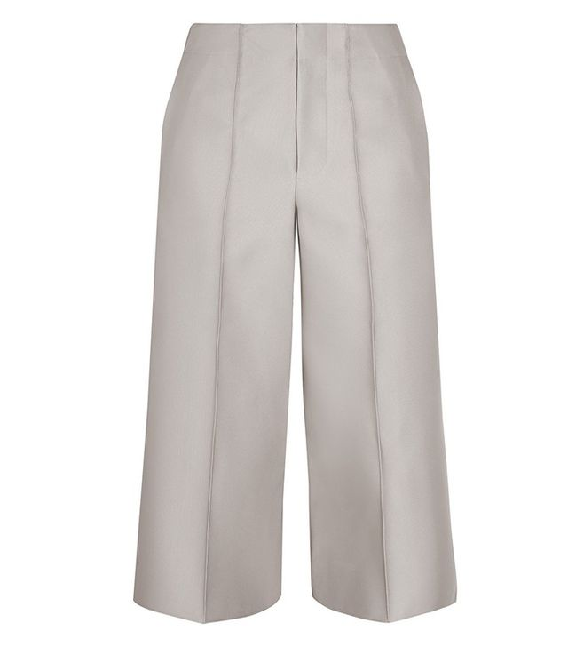 Co Cropped Faille Wide-Leg Pants