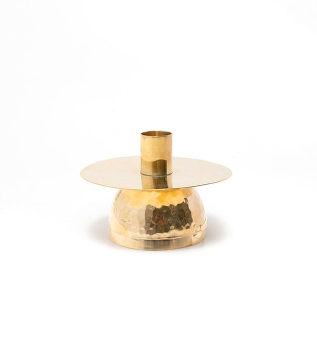 Zara Home Golden Glass Candlestick