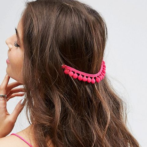 Pack of 2 Pom Pom Back Hair Grips