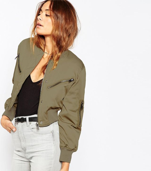 ASOS Bomber Jacket in Cropped Length