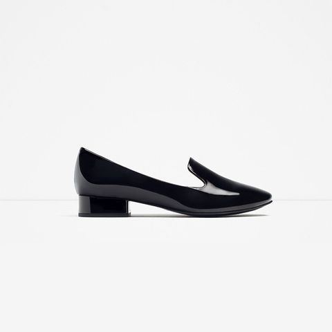 Patent Finish Flat Shoe