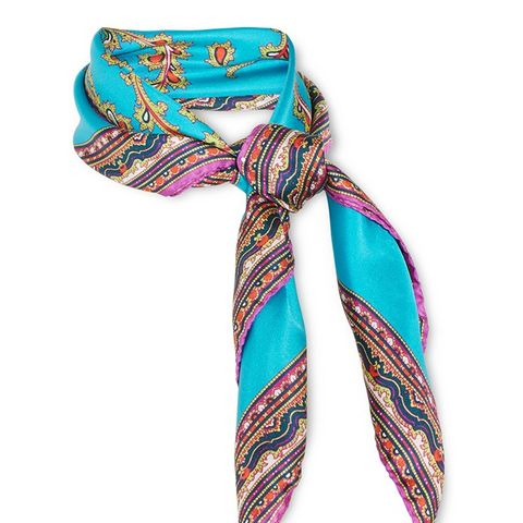 Printed Silk-Satin Scarf