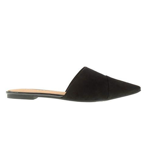 Everlong Micro Suede Pointy Toe Slip-On Flat-Mule Flat