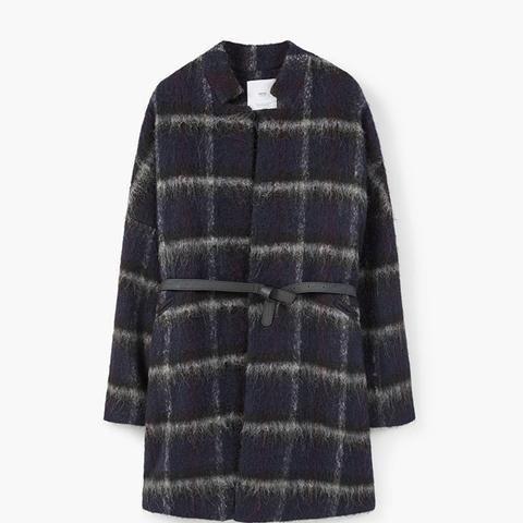 Check-Wool Blend Coar