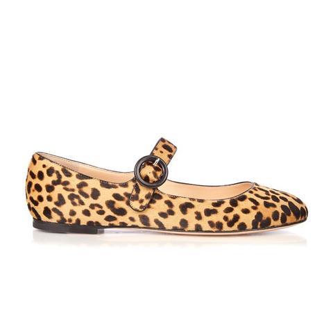 Lorraine Leopard-Print Calf-Hair Pumps