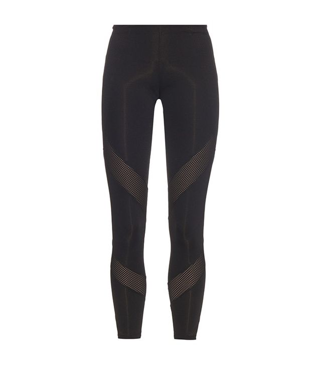 Adidas by Stella McCartney Mesh-Panel Cropped Performance Leggings