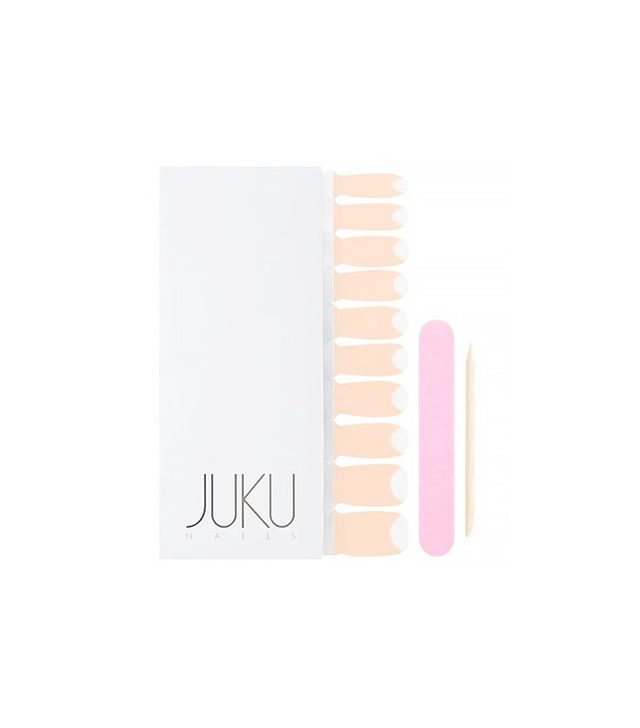 Juku Nails Peach Half Moon Transparent Nail Wraps