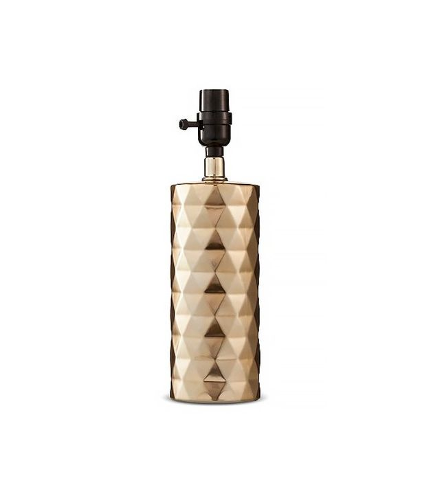 Threshold Small Gold-Plated Metallic Ceramic Lamp Base