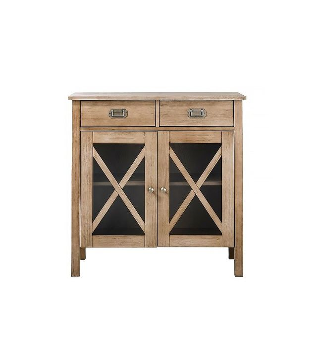 Threshold Rustic Weathered Wood x Two Door Cabinet