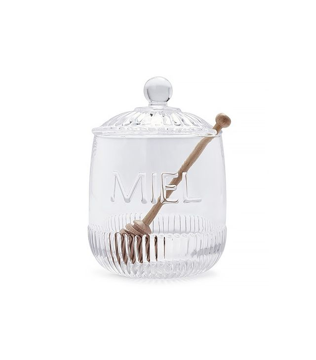 Sur La Table Honey Jar With Wooden Stirrer
