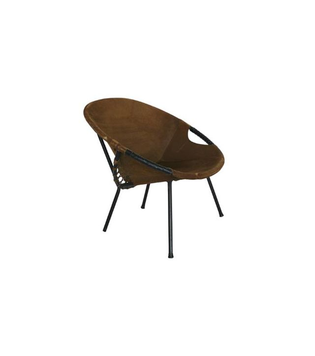 1stdibs Austrian Iron and Suede Scoop Chair