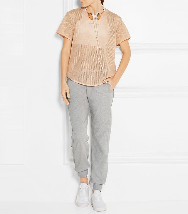Adidas by Stella Mccartney Essentials Climalite Cotton-Blend Track Pants