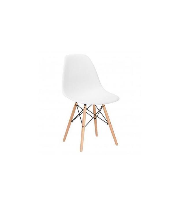 Poly & Bark Eames Style Molded Plastic Dowel-Leg Side Chair, Set of 2