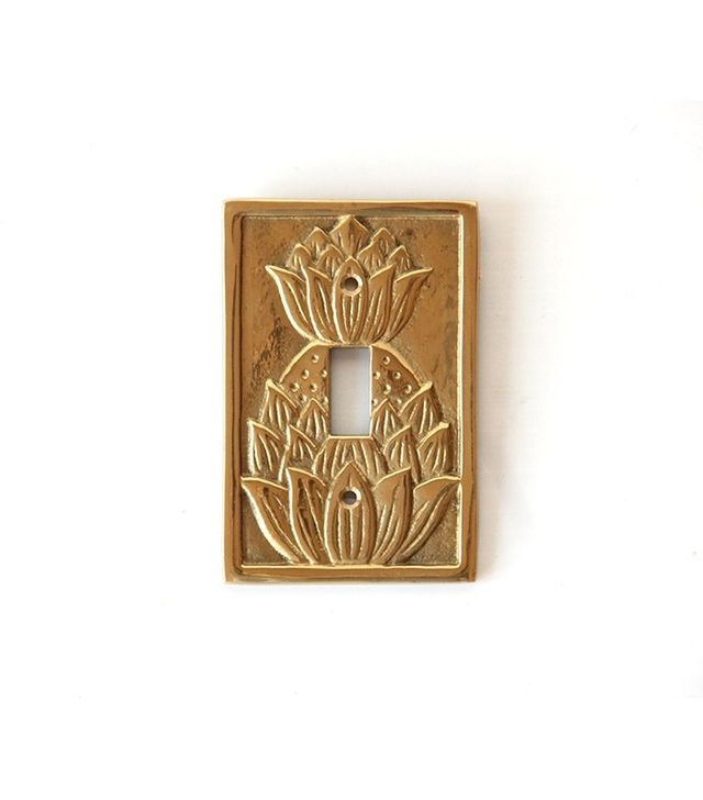 Gallivanting Girls Solid Brass Pineapple Light Switch Plate Cover