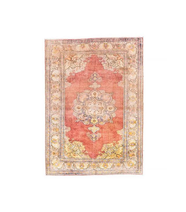 Katy Skelton Vintage Rose Gold Silk Rug