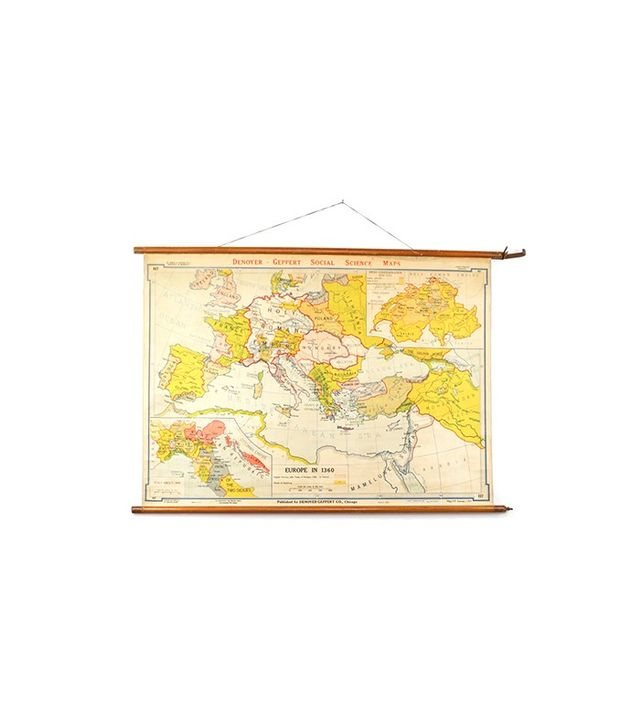 Bonnie and Bell Vintage Pull Down Map