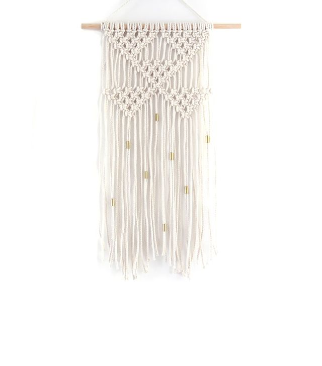 Tent Living Triangle Macrame Wall Hanging with Gold Living