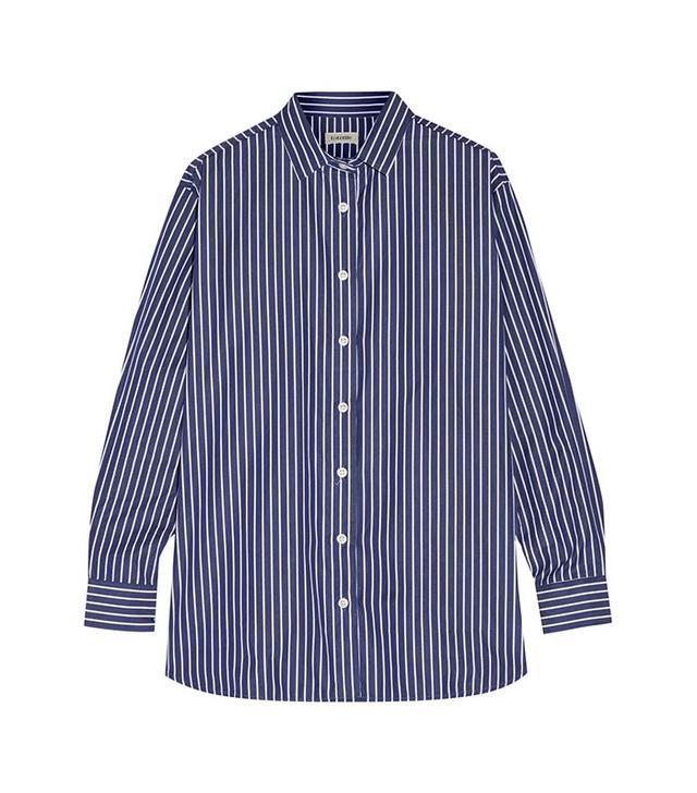 Toteme Capri Striped Cotton-Poplin Shirt