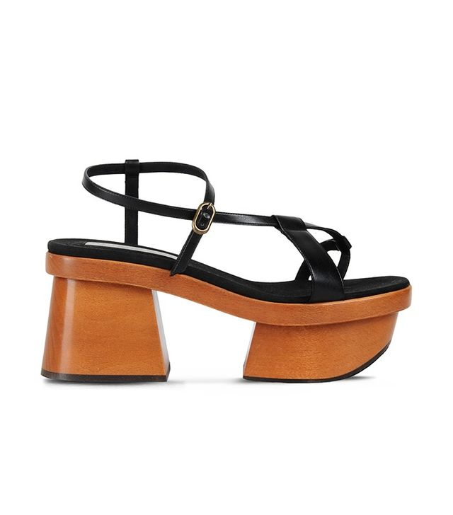 Stella McCartney Black Strap Sandals