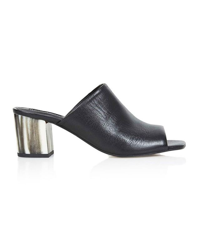 Topshop Naples Bone Heel Mules