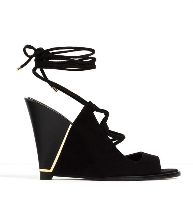 Zara Lace Up Leather Wedges