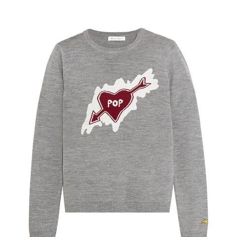 Pop Heart Intarsia Merino Wool Sweater