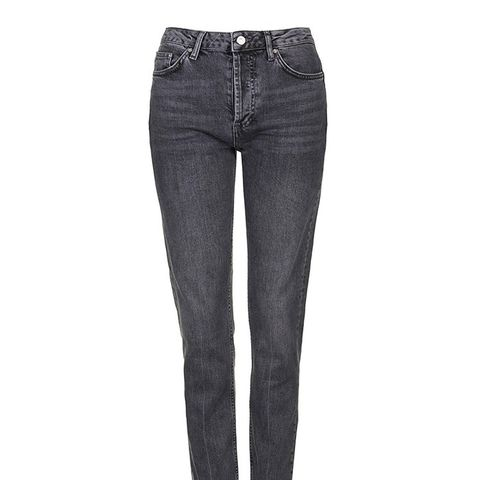 Moto Grey Straight Leg Jeans