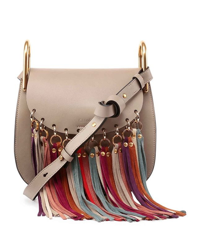 Chloé Hudson Fringe-Trim Bag