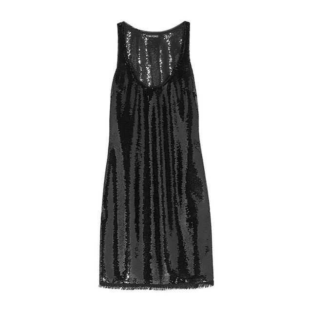 Tom Ford Sequined Stretch Tulle Dress