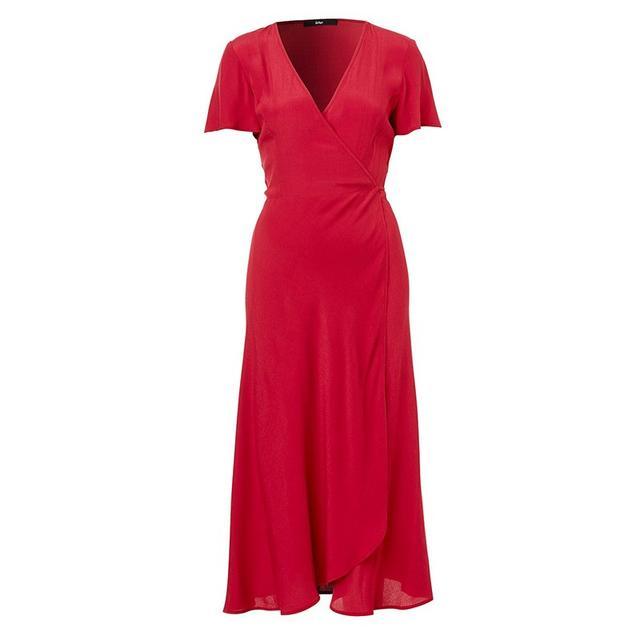 Sportsgirl Short Sleeve Wrap Dress