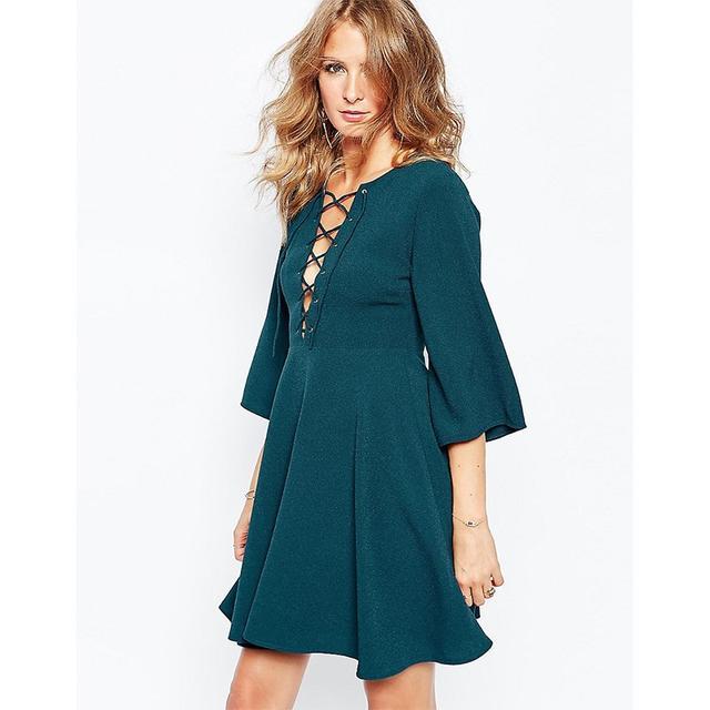 Millie Mackintosh Fluted Sleeve Dress