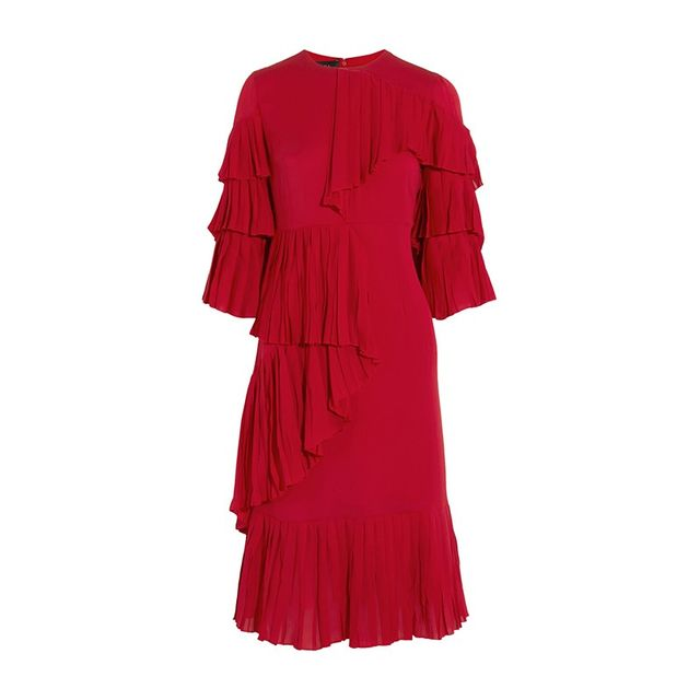 Gucci Ruffled Silk-Georgette Gown