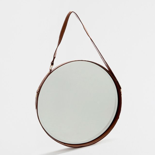 Zara Home Mirror with Leather Strap