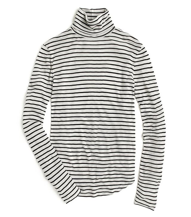 J.Crew 10 Percent Turtleneck T-Shirt in Stripe