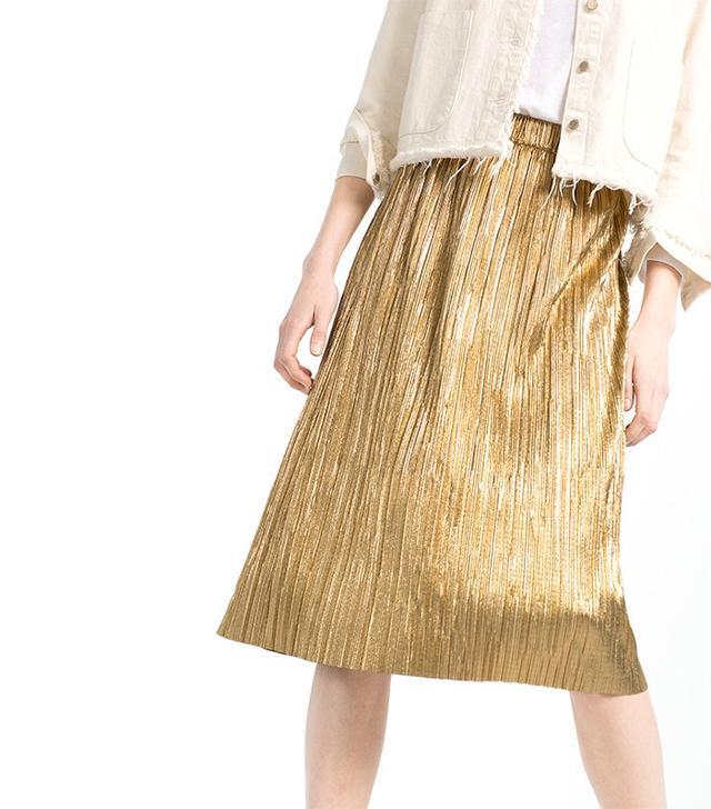 Zara Accordion Pleat Skirt