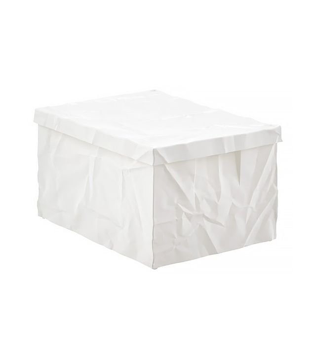 The Container Store White Krinkle Box