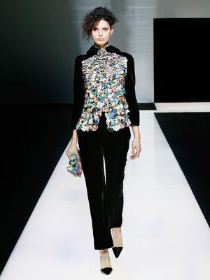 Giorgio Armani Proves That the Velvet Trend Isn't Going Anywhere
