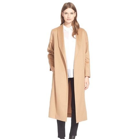 The Robe Camel Hair Maxi Coat