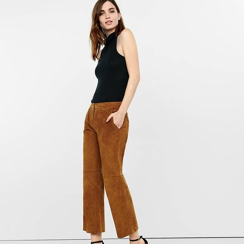 Genuine Suede Flat Front Culottes