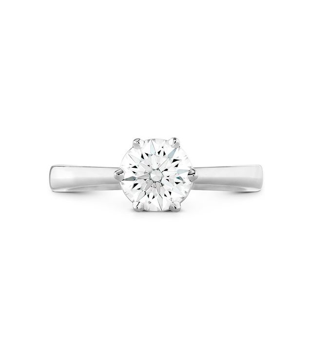Hearts on Fire Signature 6 Prong Solitaire Engagement Ring