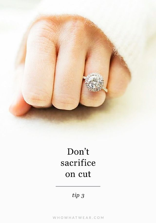 """The best way to make your engagement ring look more expensive is to prioritize its cut and look to save money in other aspects. Cut is really king when it comes to diamonds: That's..."