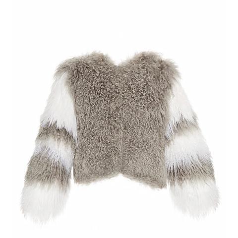 Classic Fuzz Shearling Bomber Jacket